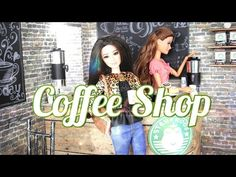 getlinkyoutube.com-DIY - How to Make a Doll Coffee Shop - Handmade - Doll - Crafts