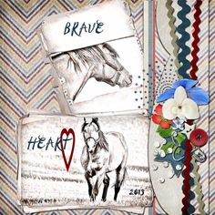 Brave Heart - theStudio Gallery by MissPepper for the July Color Challenge (hosted by #ADBDesigns)