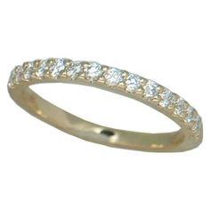 0.50 cttw. Diamond Band https://www.goldinart.com/shop/diamond-bands/diamond-band-6 #DiamondBands, #YellowGold