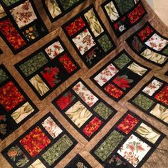 Australian wildflower quilt top ~ beautiful & stunning!