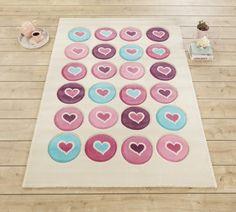 Covor pentru copii Love Multicolour, 133 x 190 cm #homedecor #inspiration #interiordesign #carpet #kidsroom #room #kids #hearth Candy Colors, Beach Mat, Outdoor Blanket, Kids Rugs, Interior Design, Home Decor, Angels, Amp, Products
