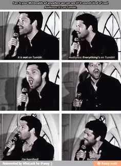 Poor Misha. But Tumblr finds everything