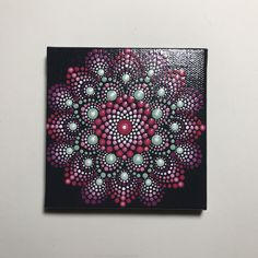 Hand Painted Mandala on Canvas, Meditation Mandala, Dot Wall Art, Dot Mandala, Gift Idea, #626 by MafaStones on Etsy