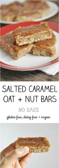 Salted Caramel Oat and Nut Bars
