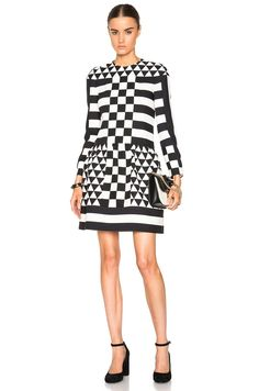 Chaconia Dolls Diamond checkered board mini dress