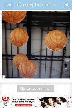 Orange accented lighting decoration