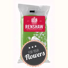 Mit der grünen Blütenpaste von Renshaw modellieren Sie problemlos wunderschöne Blüten für die Tortendekoration. #Blütenpaste #Fondant