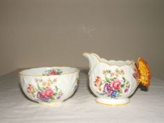 Aynsley ART Deco Butterfly Handled JUG Sugar Bowl Rare Stunning | eBay