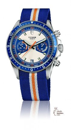 Here is a #Tudor Heritage Chrono Blue with NATO Straps. #military #militarywatches #NatoStraps