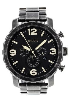 Price:$129.38 #watches Fossil JR1388, Stainless steel case, Stainless steel bracelet, Black chronograph dial, Quartz movement, Scratch-resistant mineral, Water resistant up to 5 ATM - 50 meter - 165 feet