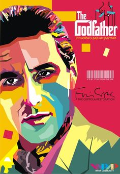 The Godfather Part II - pop art illustration of Michael Corleone in Cuba #GangsterMovie #GangsterFlick