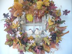Fall Chicken Wreath by WildMountainWreaths on Etsy.com