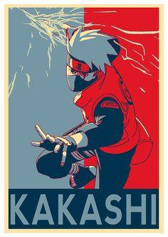 Instabuy Poster Naruto Propaganda Kakashi - A3 (42x30 cm)