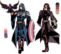 Captain America and Bucky Barnes (Assassin's Creed Style)