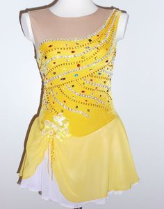 BEAUTIFUL AND GORGEOUS CUSTOM MADE TO FIT FIGURE ICE SKATING  DRESS
