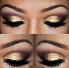 Gold-Smokey-Eye-Makeup