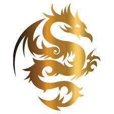 Gold dragon insignia rabbit dragon gold silver