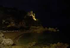 Lloret Castle by night - null