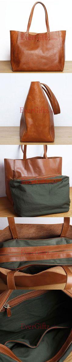 Handmade leather shopper bag tote purse women handbag shoulder bag shopper bag