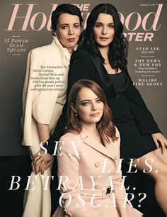 'The Favourite' ain't your mother's costume drama as Emma Stone, Rachel Weisz and Olivia Colman preside over a royal spectacle of cunning ladies and dandied-up men that blows up and gender politics with its outrageous love triangle. Rachel Weisz, Gender Politics, Broadchurch, Oscar Winners, Award Winner, Vogue Covers, New Fox, The Hollywood Reporter, Emma Stone