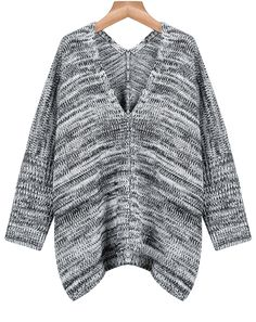 Shop Grey Long Sleeve V Neck Loose Sweater online. Sheinside offers Grey Long Sleeve V Neck Loose Sweater & more to fit your fashionable needs. Free Shipping Worldwide!