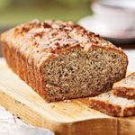 Coconut Banana Bread with Lime Glaze Recipe | MyRecipes.com   Especially good!  Press the coconut into the top so they don't fall off later.  1/2 C walnuts