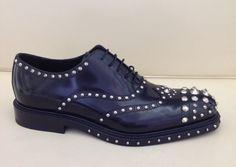 Prada #man #shoes #metalstuds #FallWinter