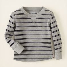 baby boy - long sleeve tops - striped thermal | Children's Clothing | Kids Clothes | The Children's Place
