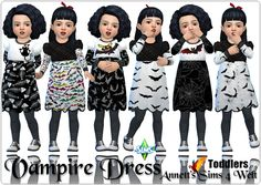 Sims 4 CC's - The Best: Toddlers Vampire Dress by Annett85