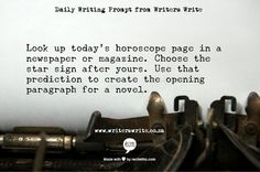 Daily Writing Prompt - Writers Write