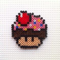 Cupcake mushroom hama beads by hadavedre