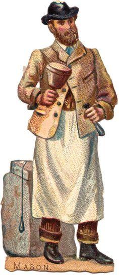 Victorian Tradesmen Scraps Mason