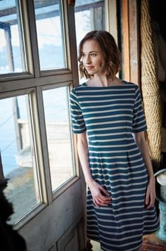 Beautiful & Practical Clothing For Women - Seasalt Cornwall Country Fashion, Ethical Clothing, Chambray Dress, Nautical Fashion, Fit Flare Dress, What To Wear, Winter Fashion, Cool Outfits, Short Sleeve Dresses