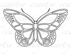 Beautiful Butterfly Printable Coloring Page C by ccartsy on Etsy, $1.50