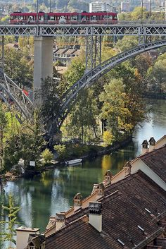 Brücke über die Aare in Bern, Switzerland
