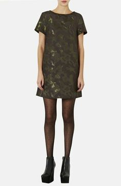 Topshop Camouflage Jacquard A-Line Dress available at #Nordstrom