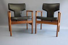 Kjell Grant MID Century X 2 Armchairs Desk Office Chair William Latchford and Sons Retro Vintage era 360 Modern Furniture VIC | eBay