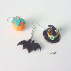 Boucle d'oreille fimo halloween