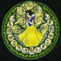 Disney Stained Glass Patterns | Snow White Stained Glass - Disney Princess Fan Art (31394712) - Fanpop ...