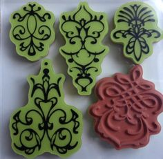 Inkadinkado Stamping Gear Antiquity Rubber Cling Stamps -