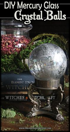 DIY Crystal Balls - 5 Easy Methods Bring a magical touch to a Witches Dinner Party or your Halloween Decor with five easy ideas for creating DIY Crystal Balls! Halloween Crafts, Halloween Party, Halloween Decorations, Halloween Stuff, Halloween Ideas, Happy Halloween, Witch Party, Winter Decorations, Halloween Witches