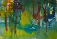 Morning in the Forest, Sirkkaliisa Virtanen, watercolor, 2014