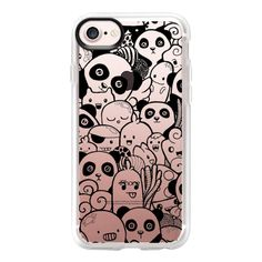 Panda and Monsters - iPhone 7 Case And Cover ($40) ❤ liked on Polyvore featuring accessories, tech accessories, phone cases, iphone case, apple iphone case, iphone cover case, clear iphone case and iphone cases