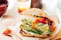 Vegetarian burgers become gourmet fare with this spicy frittata version.