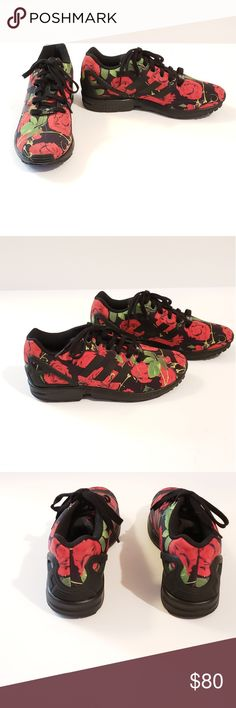 9eb8d31e107fb ... best price nwot womens adidas originals red rose zx flux f37c2 14635