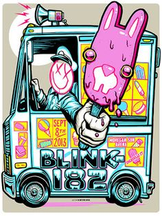 Munk One blink 182 Uncasville Poster Release Details