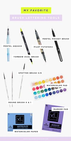 Curious about #BrushLettering ? Here's a nifty guide with my favorite tools to get you started!