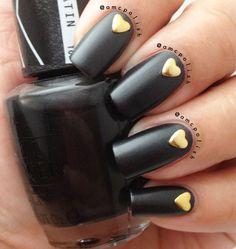 34 Classy Glitzy Gold Stud Nail Arts - Be Modish - Be Modish