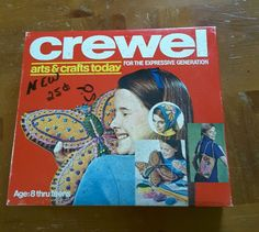 Vintage Crewel embroidery kit 1970s  #Unbranded