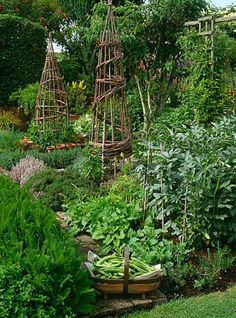 The French Potager Garden. A potager is the French term for an ornamental vegeta. The French Potager Garden. A potager is the French term for an ornamental vegetable or kitchen garden. Potager Garden, Veg Garden, Vegetable Garden Design, Edible Garden, Garden Landscaping, Vegetable Gardening, Veggie Gardens, Organic Gardening, Gardening Tips